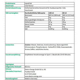 Dextro Energy Liquid Gel Box 18 x 60ml, Cola